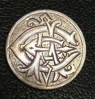 AMAZING LOVE TOKEN PIN BROOCH ON CANADA FIFTY CENT SILVER COIN