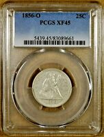 1856 O PCGS XF45 SEATED QUARTER   BETTER DATE