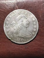 1805 DRAPED BUST HALF DOLLAR EXTRA FINE  DETAILS COOL COIN