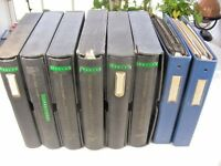 US, EXCELLENT STAMP COLLECTION HINGED/MOUNTED IN 8 VOLUMES, SINGLES, SETS, BLOCK