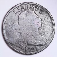 1797 DRAPED BUST LARGE CENT CHOICE VG SHIPS FREE E102 CNM