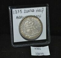 WEST POINT COINS   1873 SEATED HALF DOLLAR ARROWS AT DATE