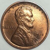 1915D LINCOLN CENT MINT STATE PROBLEM FREE SUPER LUSTEROUS