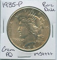 1935 P PEACE DOLLAR  DATE UNCIRCULATED US MINT COIN PQ GEM SILVER COIN MS