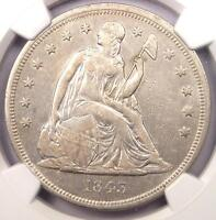 1843 SEATED LIBERTY SILVER DOLLAR $1   NGC XF DETAILS    COIN   NEAR AU