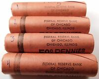 1 ROLL 1958 D OBW ORIGINAL BANK WRAPPED ROLL BU UNCIRCULATED LINCOLN WHEAT CENTS