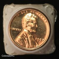 ROLL OF PROOF 1957 1C LINCOLN HEAD WHEAT CENTS   COPPER BEAUTIES