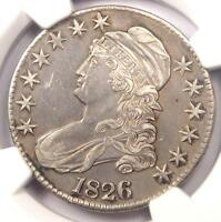 1826 CAPPED BUST HALF DOLLAR 50C O 102   NGC AU DETAILS    CERTIFIED COIN