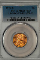 1970 S LINCOLN PCGS MS66RD LARGE DATE DDO FS 103 BRILLIANT GEM 38002.35590X