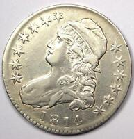 1814 CAPPED BUST HALF DOLLAR 50C   SHARP DETAILS    COIN