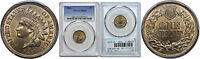1861 INDIAN HEAD CENT PCGS MS 65