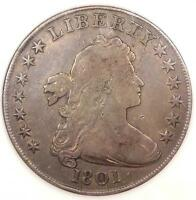 1801 DRAPED BUST SILVER DOLLAR $1   FINE DETAILS    COIN