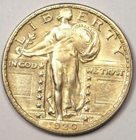 1920 S STANDING LIBERTY QUARTER 25C   NICE AU DETAILS    DATE COIN