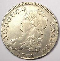 1808 CAPPED BUST HALF DOLLAR 50C   SHARP XF/AU DETAILS    DATE COIN