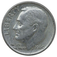 1960 ROOSEVELT DIME 90 SILVER XTRA FINE XF