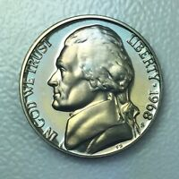 1968 S 5C PROOF JEFFERSON NICKEL   YEARLY SPECIAL PRESENTATION STRIKE COIN