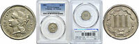 1882 NICKEL THREE CENT PIECE PCGS GENUINE