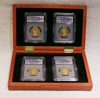 2008 PRESIDENTIAL DOLLAR 4 COIN PROOF SET - ICG PR70 DCAM - FIRST DAY ISSUE
