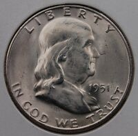1951 S FRANKLIN HALF DOLLAR CHOICE BU BETTER DATE