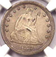 1876 CC SEATED LIBERTY QUARTER 25C   NGC XF DETAILS    EF CARSON CITY COIN