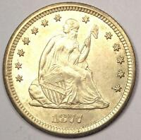 1877 SEATED LIBERTY QUARTER 25C   EXCELLENT LUSTER
