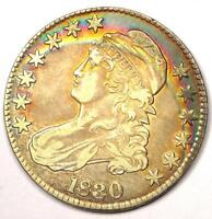 1830 CAPPED BUST HALF DOLLAR 50C   SHARP DETAILS    COIN   RAINBOW TONE