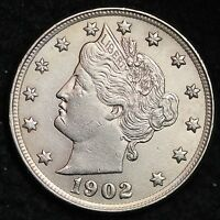1902 LIBERTY V NICKEL CHOICE BU SHIPS FREE E148 THM