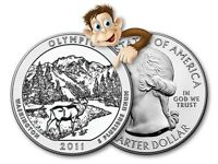 2011 5 OZ SILVER AMERICA THE BEAUTIFUL    OLYMPIC NATIONAL PARK    BULLION ISSUE