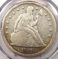 1846 O SEATED LIBERTY SILVER DOLLAR $1   CERTIFIED PCGS FINE DETAILS    COIN