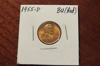 1955 D LINCOLN CENT BU RED