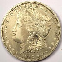 1893-O MORGAN SILVER DOLLAR $1 - EXTRA FINE  DETAILS -  KEY DATE COIN
