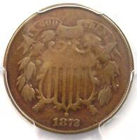 1872 TWO CENT PIECE 2C - PCGS VG DETAILS -  KEY DATE CERTIFIED COIN