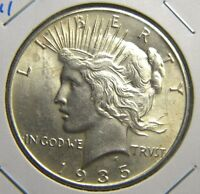 1935 PEACE SILVER DOLLARBRILLIANT UNCIRCULATED CONDITIONGO