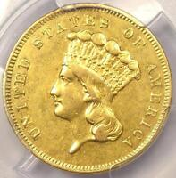 1856-S THREE DOLLAR INDIAN GOLD PIECE $3 - PCGS AU DETAILS -  CERTIFIED COIN