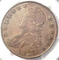 1827 CAPPED BUST HALF DOLLAR 50C - PCGS AU55 -  CERTIFIED COIN - $725 VALUE