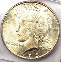 1928 S PEACE SILVER DOLLAR $1   CERTIFIED ICG MS62 BU UNC      $276 VALUE