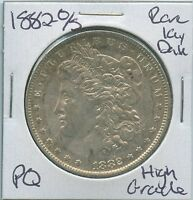 1882 O/S MORGAN DOLLAR  KEY DATE O OVER S US MINT SILVER COIN PQ HIGH GRADE