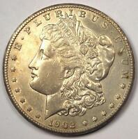1902 S MORGAN SILVER DOLLAR $1   AU DETAILS    DATE THIS SHARP