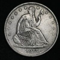 1875 S SEATED LIBERTY HALF DOLLAR CHOICE XF/AU  E325 APT