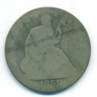 1859 SEATED LIBERTY HALF DOLLAR