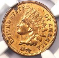 1873 INDIAN CENT 1C   NGC XF DETAILS EF    DATE CERTIFIED PENNY