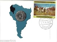 1970 COLUMBIAN 50 CENTAVOS  FIRST CERTIFIED COIN SOUTH AMERICA 99 COMPANY COVER