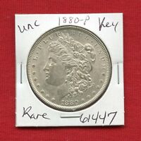 1880 BU UNC MORGAN SILVER DOLLAR 61447 MS COIN US MINT  KEY DATE ESTATE