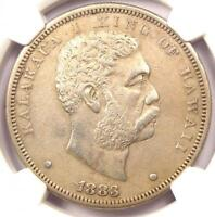 1883 HAWAII DOLLAR $1   NGC AU DETAILS    CERTIFIED SILVER COIN