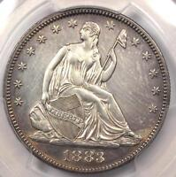 1883 SEATED LIBERTY HALF DOLLAR 50C   PCGS UNCIRCULATED MS UNC   8,000 MINTED