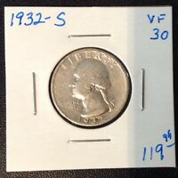 1932 S 25C WASHINGTON QUARTER VF