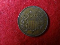1868-P 2C TWO-CENT PIECE CHOC-BROWN    EXTRA FINE          14.