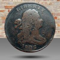HALF CENT/PENNY 1802 OVERDATE SECOND REVERSE COLLECTOR COIN