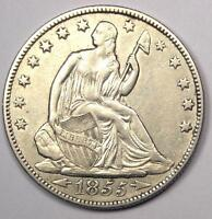 1855 O ARROWS SEATED LIBERTY HALF DOLLAR 50C COIN   SHARP DETAILS    DATE