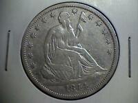 1844 O SEATED LIBERTY HALF DOLLAR .900 SILVER NEW ORLEANS